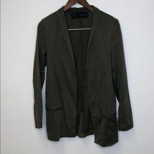 Zara Basic Open Front Army Green Blazer Medium